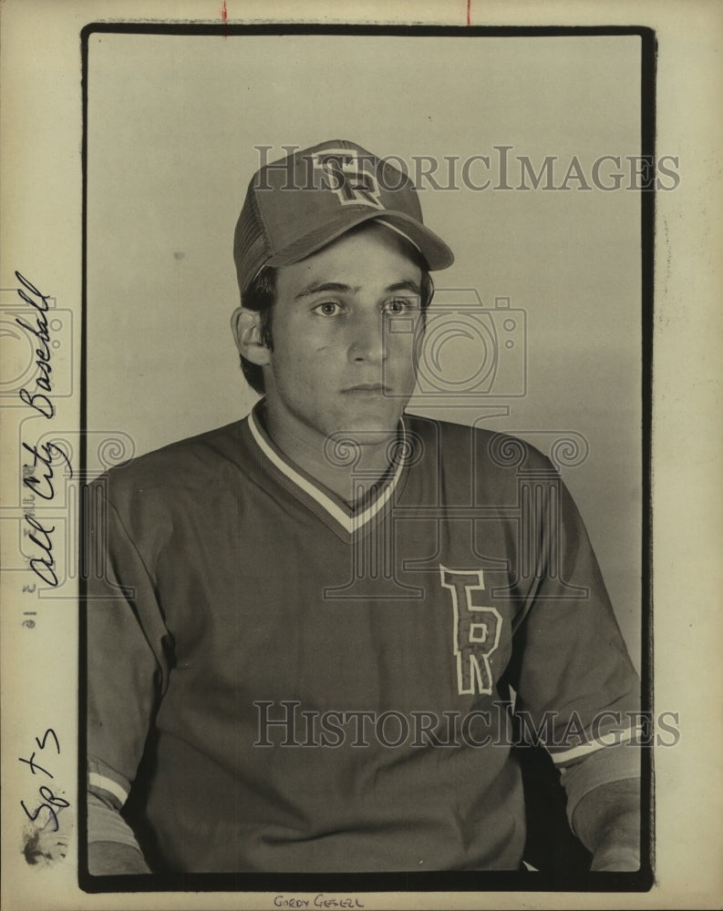 1978 Press Photo Roosevelt High baseball pitcher Gordy Gesell - sas10316 - Historic Images