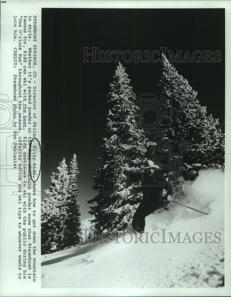 Press Photo Billy Kidd, Steamboat Springs Director of Skiing on Mountain - Historic Images
