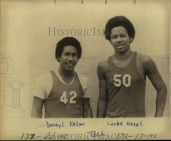 Press Photo Tech Basketball Players Darryl Nelson and Lester Hazel - sas12293 - Historic Images