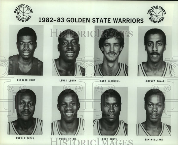 1982 Press Photo Golden State Warriors Basketball Team Line Up - sas12315 - Historic Images