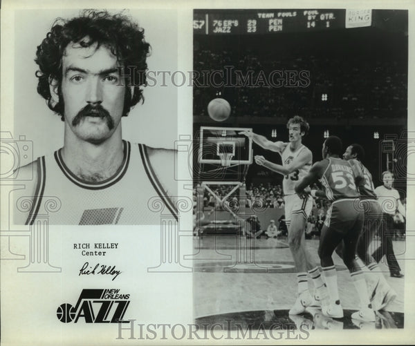 Press Photo Rich Kelley, New Orleans Jazz Basketball Center Player - sas12372 - Historic Images