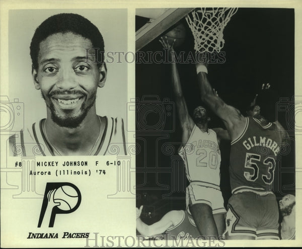 Press Photo Mickey Johnson, Indiana Pacers Basketball Player at Game - sas12845 - Historic Images