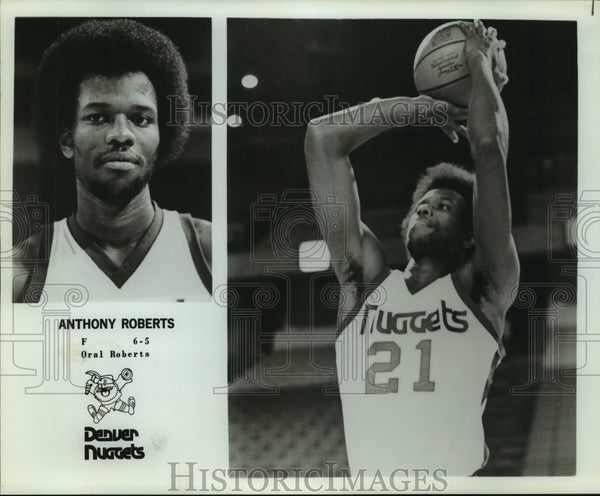 Press Photo Denver Nuggets basketball player Anthony Roberts - sas12928 - Historic Images