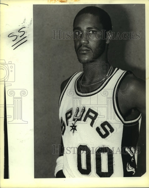 Press Photo Johnny Moore, Spurs Basketball Player - sas13646 - Historic Images