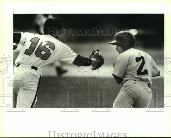 1993 Press Photo Harlandale and East Central play high school baseball - Historic Images