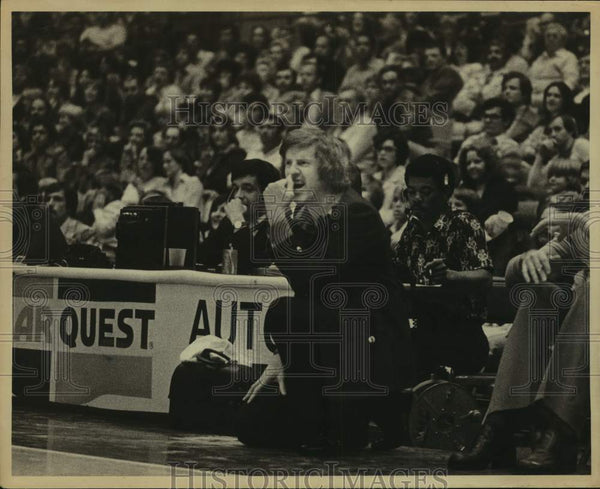 Press Photo New York/New Jersey Nets basketball coach Kevin Loughery - sas14012 - Historic Images