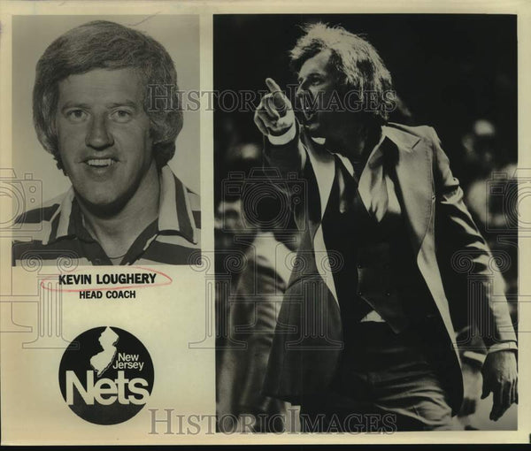 Press Photo New Jersey Nets coach Kevin Loughery - sas14014 - Historic Images