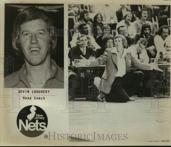 1978 Press Photo New Jersey Nets coach Kevin Loughery - sas14016 - Historic Images