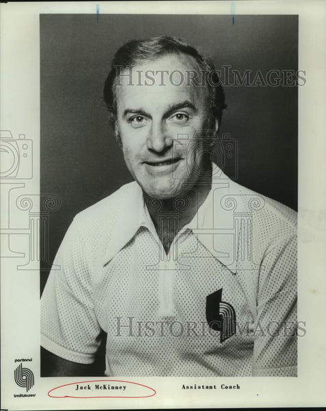 Press Photo Portland Trail Blazers assistant basketball coach Jack McKinney - Historic Images