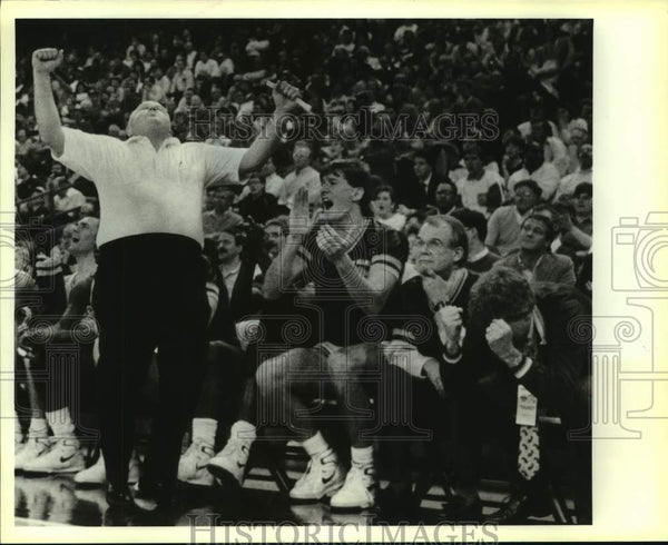 1989 Press Photo College basketball coach Buddy Meyer - sas14244 - Historic Images