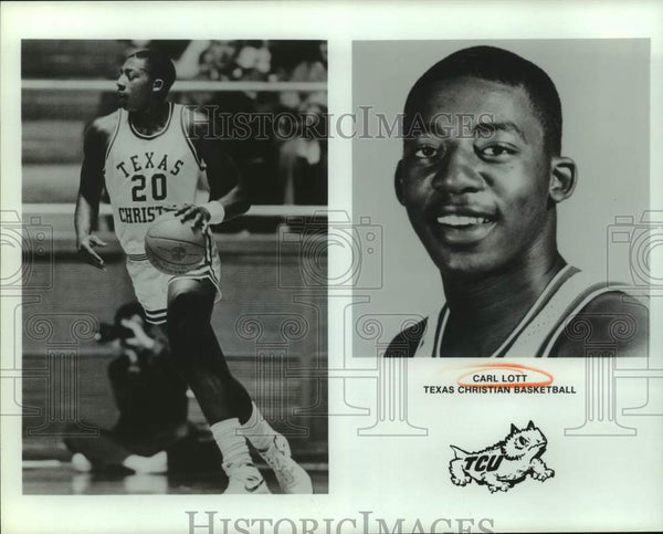 Press Photo Texas Christian college basketball player Carl Lott - sas14471 - Historic Images