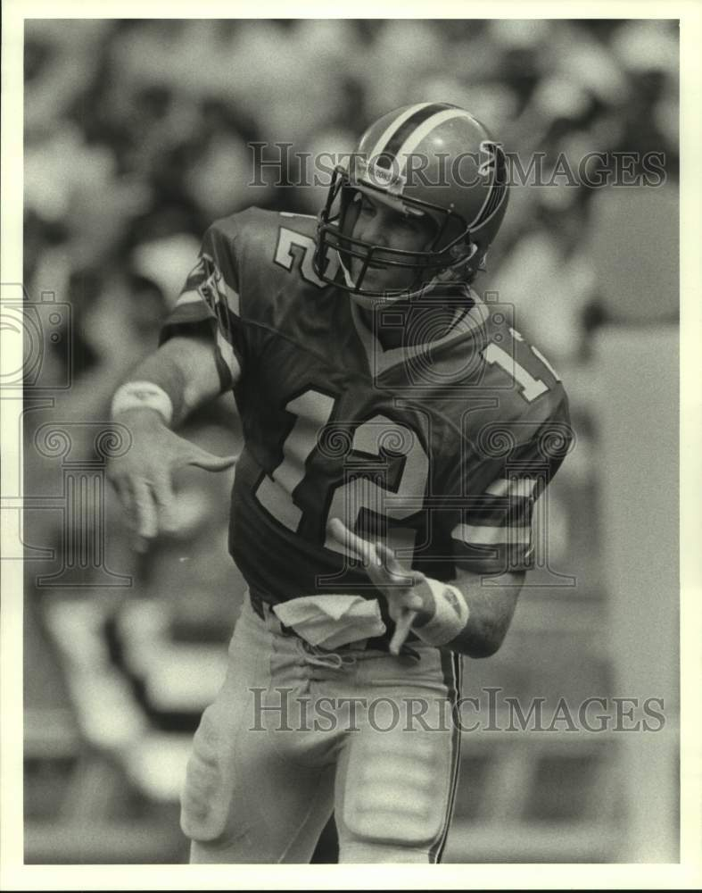Press Photo Atlanta Falcons football quarterback Chris Miller - sas14619 - Historic Images