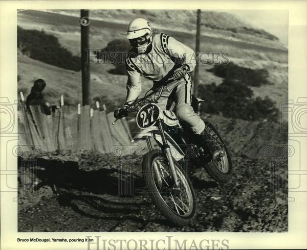 Press Photo Yamaha motocross race rider Bruce McDougal in action - sas14788 - Historic Images