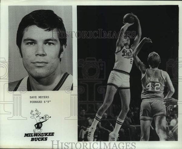 Press Photo Milwaukee Bucks basketball player Dave Meyers - sas14838 - Historic Images
