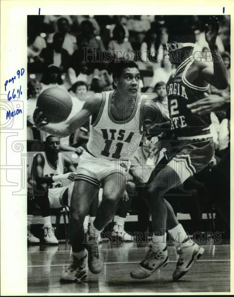 1990 Press Photo Texas-San Antonio college basketball player Michale Mason - Historic Images