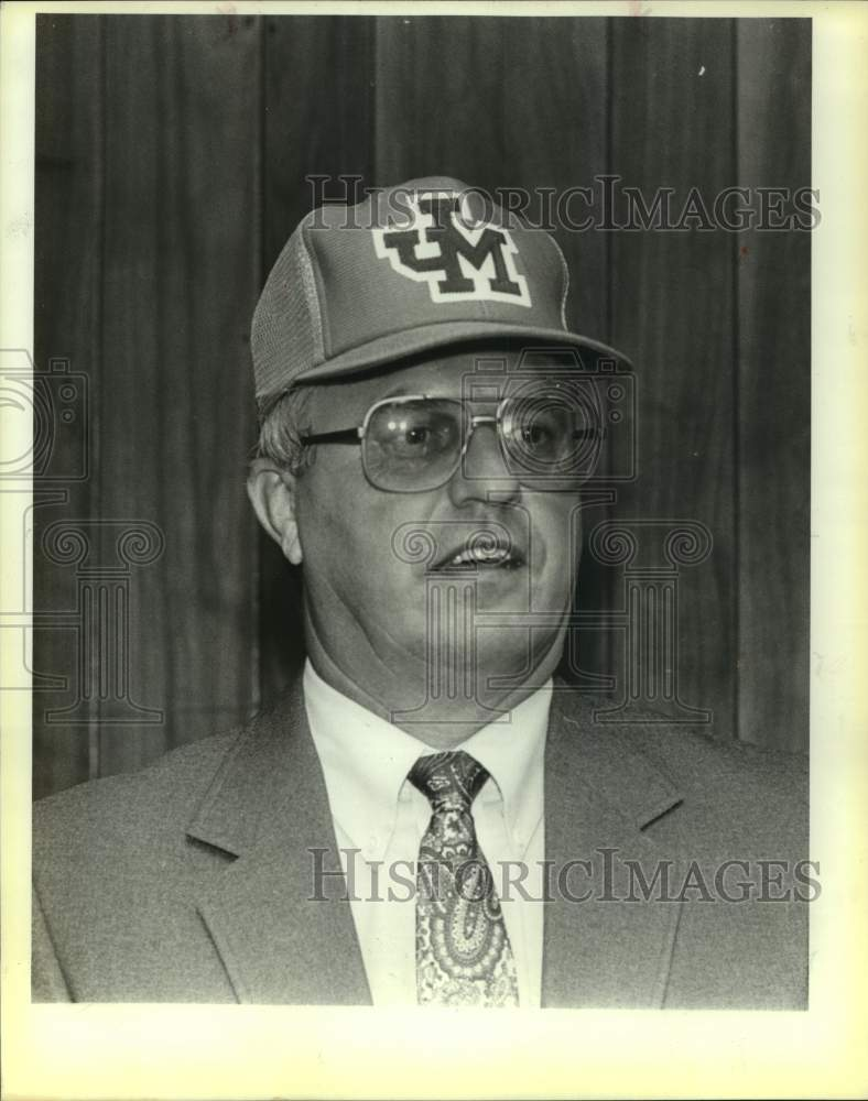 Press Photo Madison High School coach Mark Saunders - sas15224 - Historic Images
