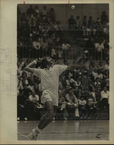 1975 Press Photo Tennis player John Newcombe in action - sas15358 - Historic Images