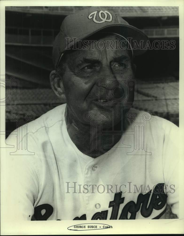 Press Photo Washington Senators baseball coach George Susce - sas15390 - Historic Images