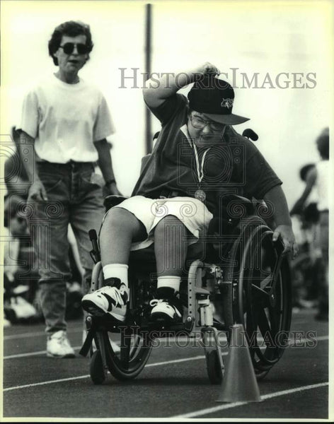 1994 Press Photo Special Olympian Jason Rocha of Leon Springs Elementary - Historic Images
