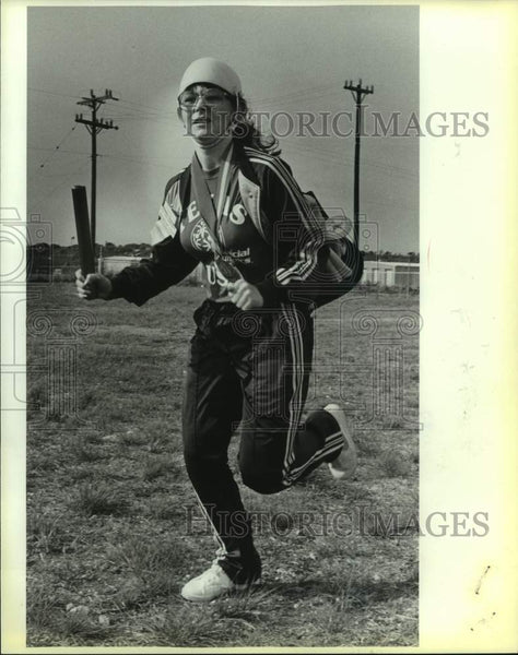 1988 Press Photo Special Olympics runner Kimberly Gearhart at Fair Meadows - Historic Images