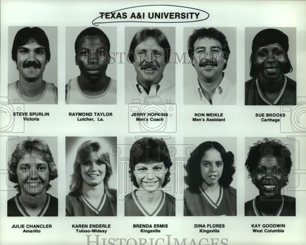 Press Photo Texas A&I college basketball mug shots - sas15568 - Historic Images
