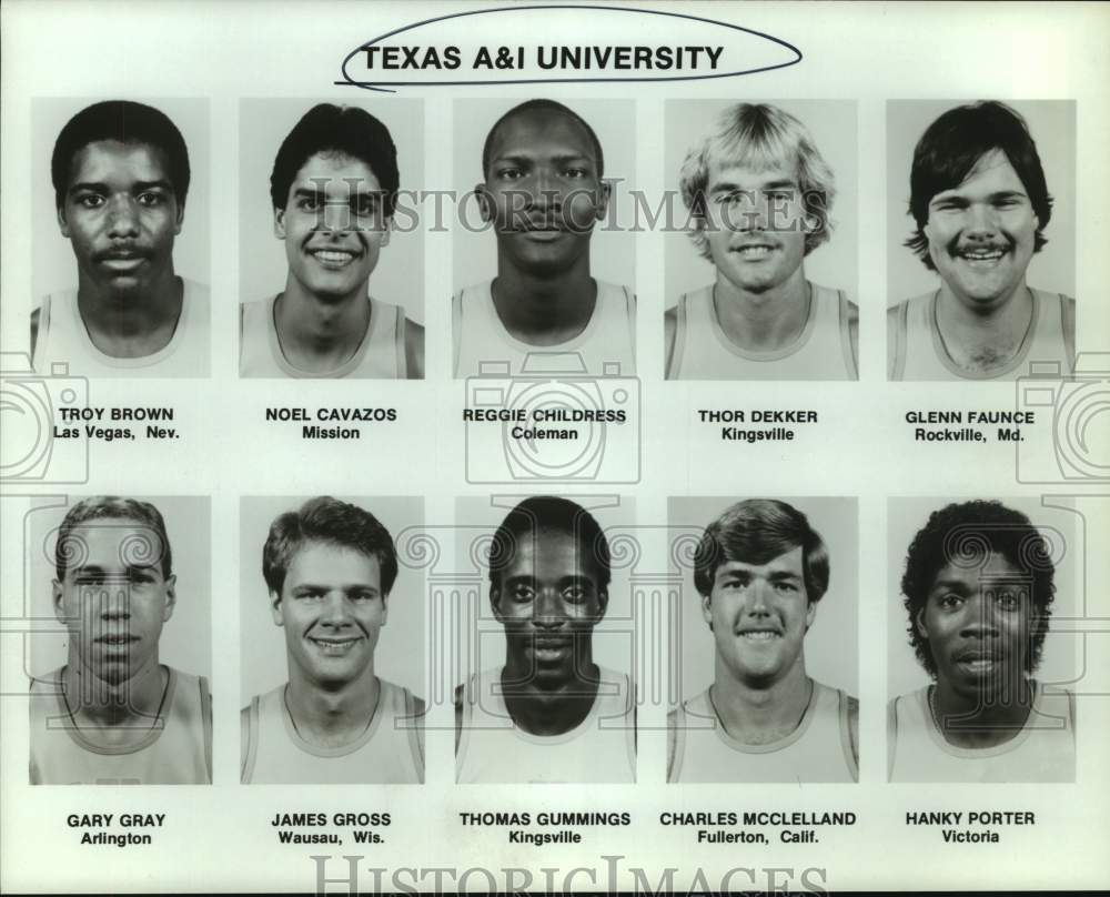 Press Photo Texas A&I college basketball mug shots - sas15569 - Historic Images