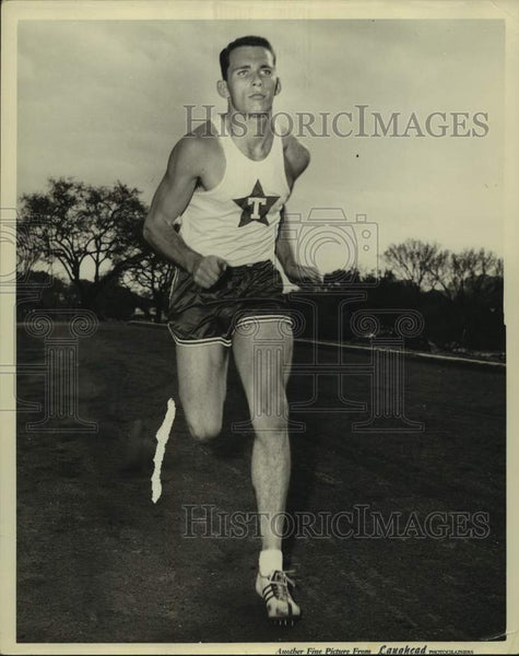 Press Photo University of Texas and 1956 Olympics hurdler Eddie Southern - Historic Images