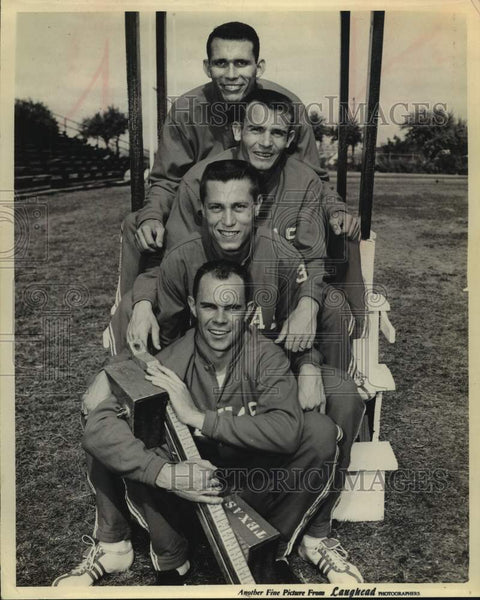 Press Photo A quartet of University of Texas track athletes - sas15688 - Historic Images