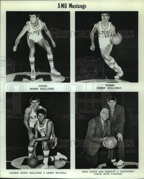 Press Photo Southern Methodist basketball players and coaches - sas15691 - Historic Images