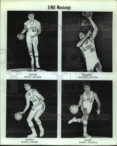 Press Photo Southern Methodist college basketball players - sas15693 - Historic Images