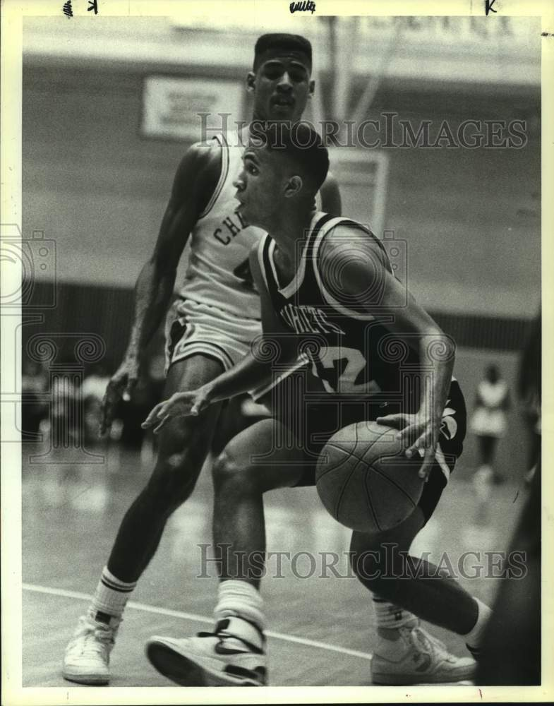 1988 Press Photo East Central High basketball player Tony Terrell - sas15719 - Historic Images