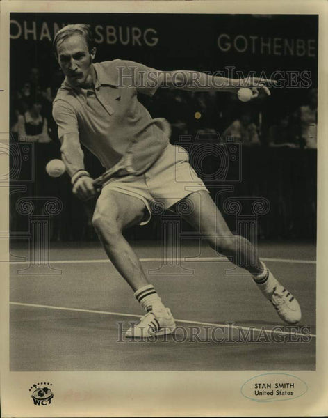 Press Photo World Championship of Tennis player Stan Smith of the United States - Historic Images