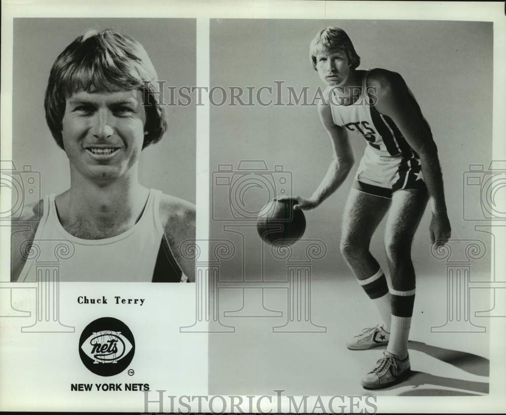 Press Photo New York Nets basketball player Chuck Terry - sas15841 - Historic Images
