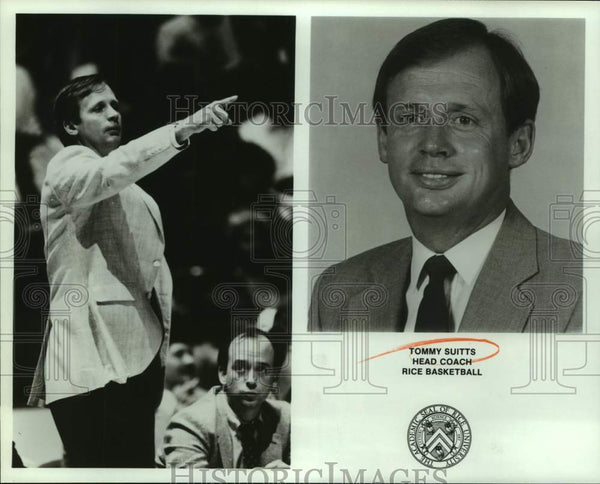Press Photo Rice University college basketball coach Tommy Suitts - sas15871 - Historic Images