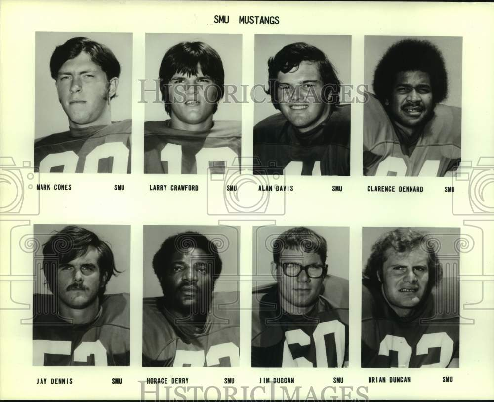 Press Photo Southern Methodist football mug shots - sas15884 - Historic Images