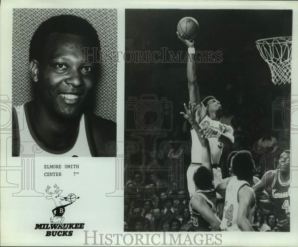 Press Photo Milwaukee Bucks basketball center Elmore Smith - sas15924 - Historic Images