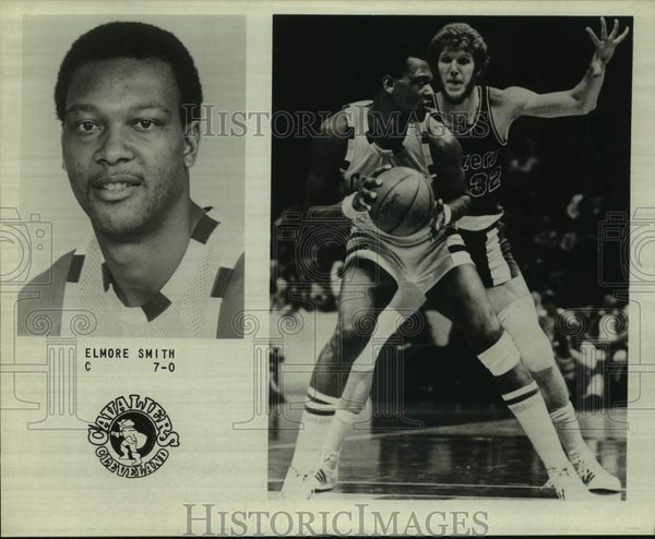 Press Photo Cleveland Cavaliers basketball center Elmore Smith - sas15926 - Historic Images
