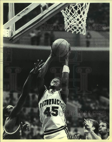 1980 Press Photo Arkansas college basketball player Cary Kelly - sas16124 - Historic Images
