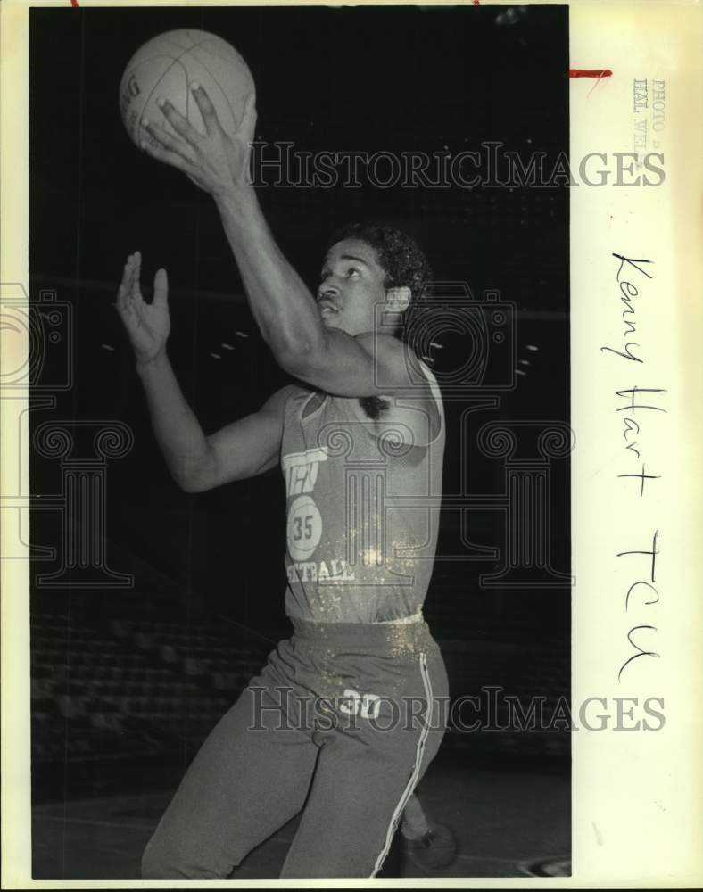 1981 Press Photo Texas Christian college basketball player Kenny Hart - Historic Images