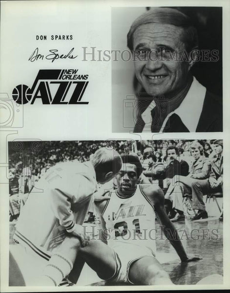 Press Photo New Orleans Jazz basketball trainer Don Sparks - sas16134 - Historic Images