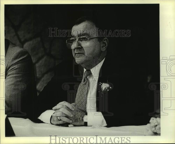 1983 Press Photo Sports television executive Chet Simmons - sas16175 - Historic Images