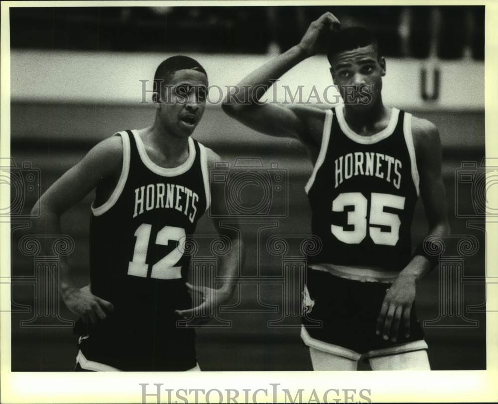 1988 Press Photo East Central basketball players Tony Terrell and Robert Keno - Historic Images