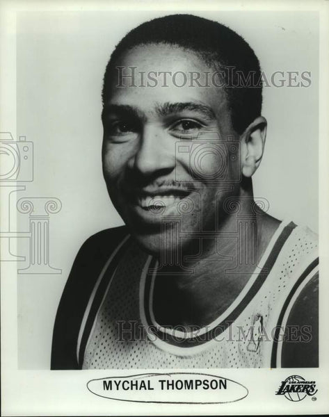 Press Photo Los Angeles Lakers basketball player Mychal Thompson - sas16447 - Historic Images
