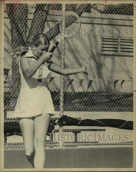 1975 Press Photo Tennis player Stephanie Tolleson - sas16460 - Historic Images