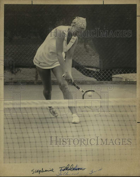 1975 Press Photo Tennis player Stephanie Tolleson - sas16461 - Historic Images
