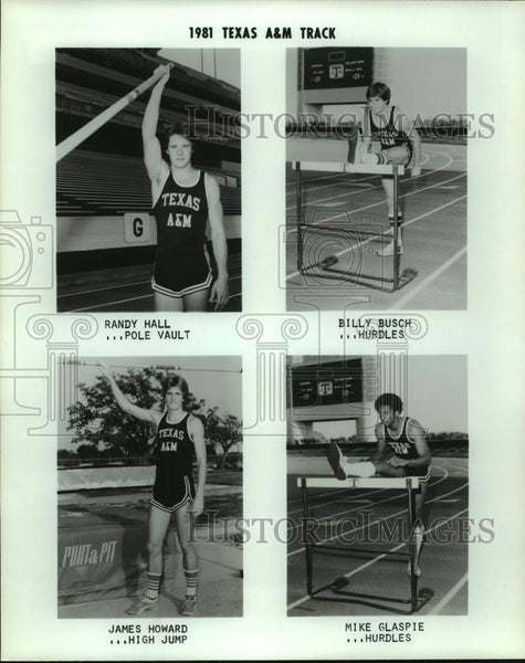 1981 Press Photo Texas A&M track and field athletes - sas16482 - Historic Images