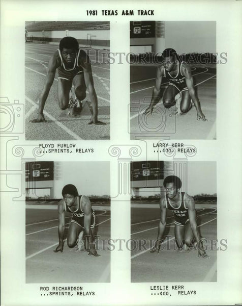 1981 Press Photo Texas A&M track and field athletes - sas16483 - Historic Images