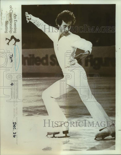 Press Photo United States champion figure skater Charles Tickner - sas16604 - Historic Images