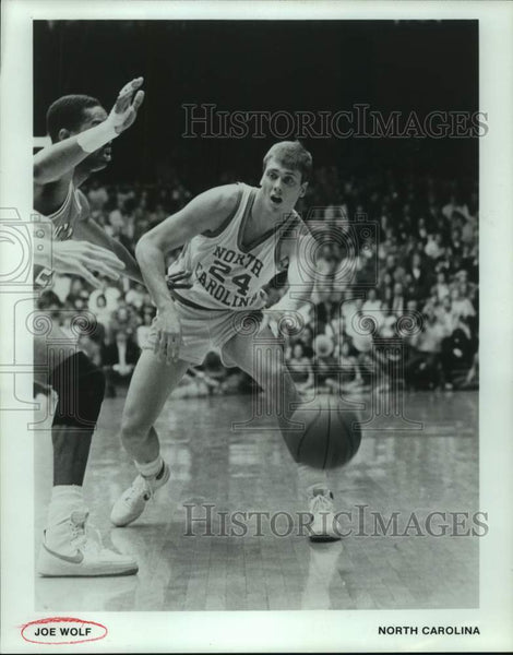 Press Photo North Carolina college basketball player Joe Wolf - sas16618 - Historic Images