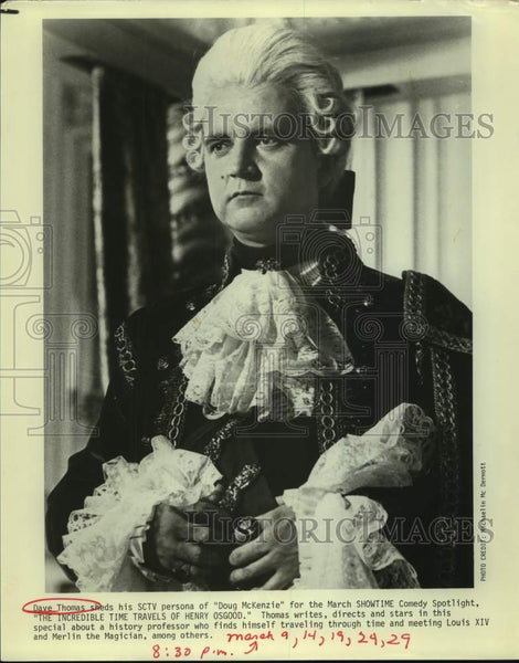 "Press Photo Actor Dave Thomas in ""The Incredible TIme Travels of Henry Osgood"" - Historic Images"